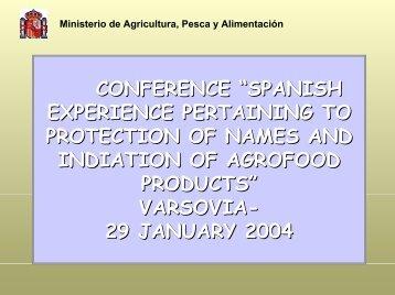 Ministerio de Agricultura, Pesca y Alimentación AGRICULTURAL ...