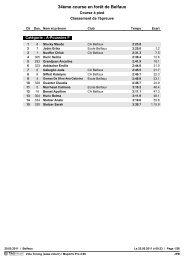 34ème course en forêt de Belfaux