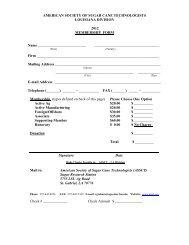 Louisiana Membership Form - American Society of Sugar Cane ...