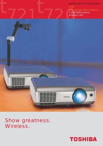 Prospekt T 720/721 (E) - Toshiba