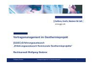 Vertragsmanagement im Geothermieprojekt - GGSC Seminare