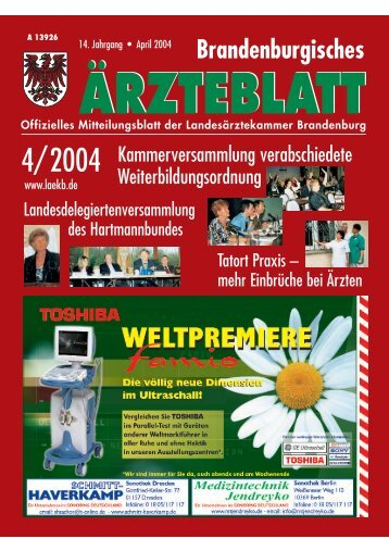 Ausgabe April 2004 - Landesärztekammer Brandenburg