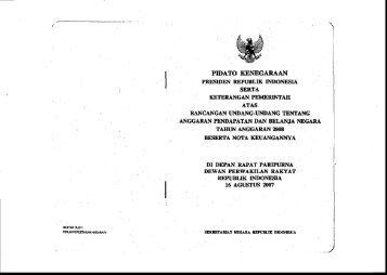 pidato kenegaraan - Direktorat Jenderal Anggaran Kementerian ...
