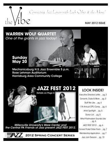 JaZZ feSt 2012 - Central PA Friends of Jazz