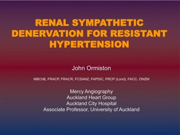 renal sympathetic denervation for resistant hypertension
