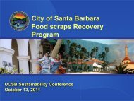 City of Santa Barbara Food scraps Recovery Program - UCSB ...