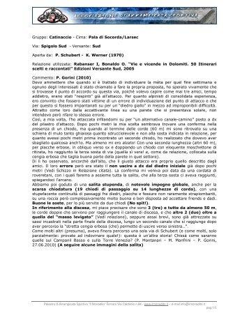 Gruppo: Catinaccio - Cima: Pala di Socorda/Larsec Via ... - Il Monodito