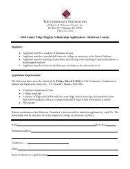 Sarah E. Adams Memorial Scholarship - The Community Foundation ...