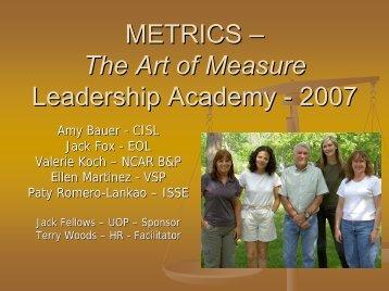 METRICS Leadership Academy 2007