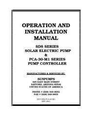 OPERATION AND INSTALLATION MANUAL - African Energy