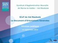 Réunion publique du 21 septembre 2010 - Agglomération de Marne ...