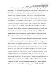 BP Oil Spill Essay for Business Communications - Temple Fox MIS