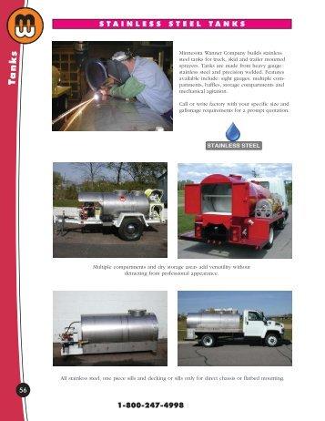 stainless steel tanks - Minnesota Wanner Co.
