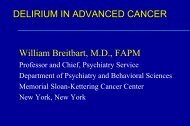 delirium in the cancer patient - Department of Pain Medicine and ...