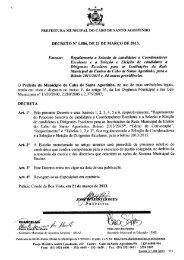 DECRETO N° 1.086, DE 21 DE MARCO DE 2013. Ementa ...