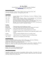Dr. Petra Klein - School of Meteorology - University of Oklahoma