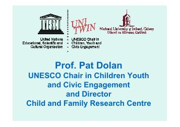 Prof. Dolan Presentation - UK National Commission for UNESCO