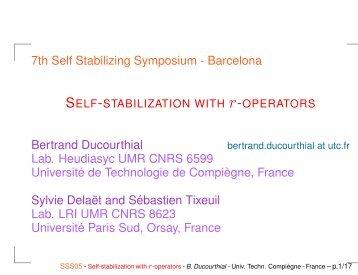 B. Ducourthial - Heudiasyc - UTC