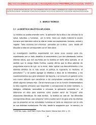 5. MARCO TEÓRICO 5.1 LA BIOÉTICA UNA ÉTICA APLICADA. La ...