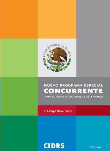 Programa Especial Concurrente para el Desarrollo Rural ... - Sagarpa