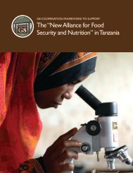 "the ""new alliance for food security and nutrition"" in ... - Feed the Future"