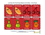 kids-food group-memory-game-cards-fruits - Nourish Interactive