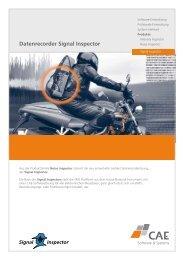 Datenrecorder Signal Inspector - CAE Engineering und Service GmbH