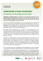 GEMEINSAM G'SUND GENIESSEN Gesundes Essen für ...