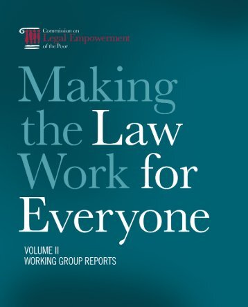 Making The Law Work for Everyone Commission on Legal ... - ISSAT