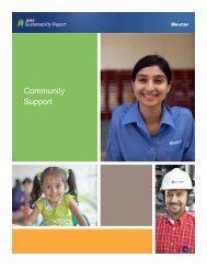 Community Support - Baxter Sustainability Report