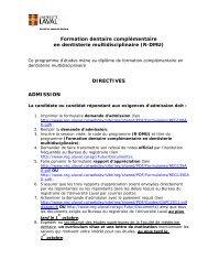 Formation dentaire complémentaire en dentisterie multidisciplinaire ...