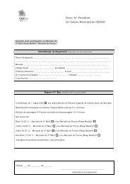 Ficha de Inscrição - Câmara Municipal de Oeiras
