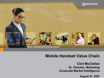 Mobile Handset Value Chain - Wireless Communications Alliance