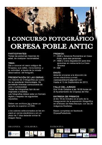 "I Concurso Fotográfico ""ORPESA POBLE ANTIC"" - Oropesa del Mar"