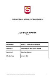 JOB DESCRIPTION - sanfl