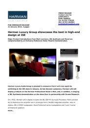 Harman Luxury Audio Group at ISE 2013 - Mark Levinson
