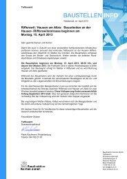 Baustelleninfo April-Okt 2013 - Gemeinde Hausen am Albis