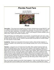 Florida Food Fare Rice - Sarasota County Extension