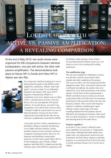 HVT AudioSense Active Passive showreport
