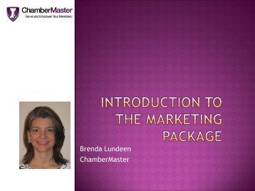 Marketing Package - ChamberMaster