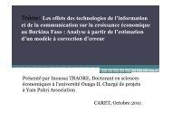 présentation CARET_Inoussa [Mode de compatibilité] - Agence d ...