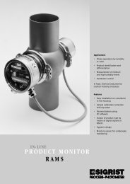 in-line product monitor rams