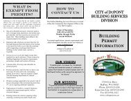 Building Permits - City of DuPont