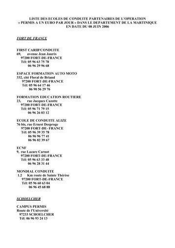 liste des ecoles de conduite partenaires de l'operation - ANDML