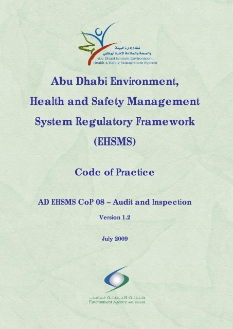 Abu Dhabi Environment, Health and Safety Management System ...