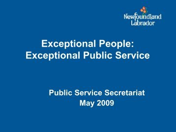 Exceptional Public Service - Department of Advanced Education ...