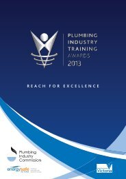 2013 Plumbing Industry Training Award Winners (3.04MB)
