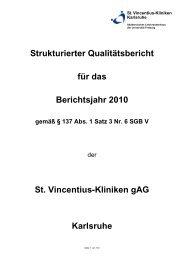 strukturierter Qualitätsbericht 2010 - St. Vincentius-Kliniken gAG