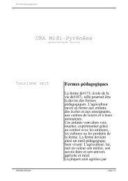 Fermes pédagogiques - Chambre régionale d'agriculture Midi ...