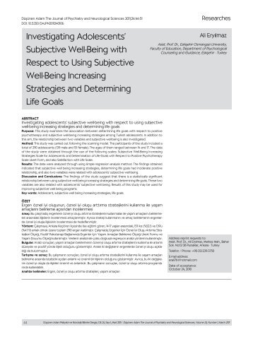 Investigating Adolescents' Subjective Well-Being with Respect to ...